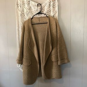 Vintage tan heathered knit blazer size large